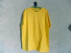 kaos polos kuning muda